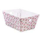 Складная коробка–трапеция «Цветочный водоворот», 27 х 19,5 х 13 см