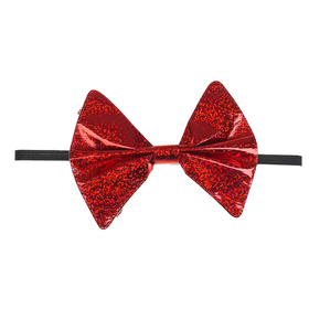 """Карнавальная бабочка """"Блеск"""" на резинке, цвет красный"""