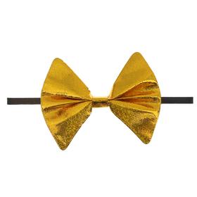"""Карнавальная бабочка """"Блеск"""" на резинке, цвет золото"""