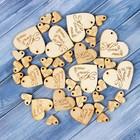 Набор бирок «Hand made», сердечки, 40х43мм - 6шт; 30х33 мм - 6шт;15х16 мм - 27 шт