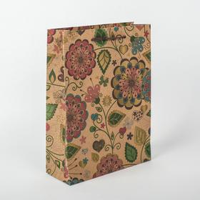 """Пакет крафт """"Цветение"""", 16 х 6 х 21 см"""