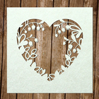 "Чипборд картон ""Рамка ""Сердце"" [2] толщ.0,9-1,15мм  9х9 см"