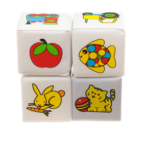 Развивающий набор для игры в ванной «Кубики. Почемучка», 4 шт.