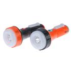 Фонарик 220 В, 1+1+1 диодов, 3 режима, вход д/USB, б/проводов, чёрно-оранжевый, 6х15.5 см