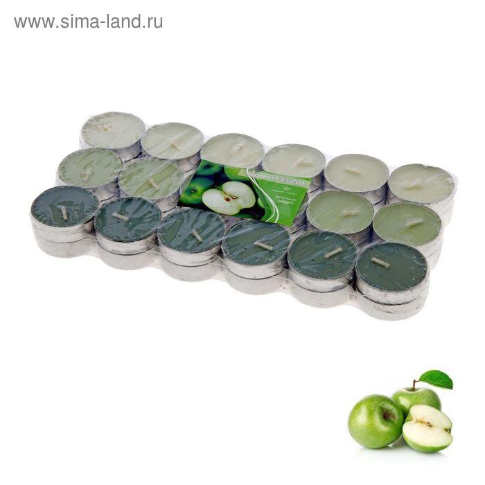 Свечи восковые в гильзе (набор 36 шт.), аромат яблоко