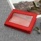 Обложка д/удостоверения У-51, 22*0,5*8, прозрачное окно, PORTE, флоттер красный