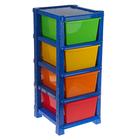 Система модульного хранения №14, цвет синий, 4 секции