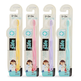 """Зубная щетка CJ Lion  """"Kids Safe"""" с нано-серебряным покрытием (от 0 до 3лет), 1шт"""
