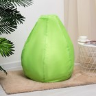 Кресло-груша d75/h90, цв. зелёный, оксфорд, вспененный полистирол