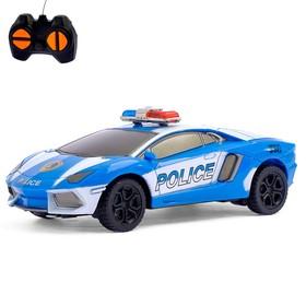 """Машина радиоуправляемая """"Дорожный патруль"""", работает от батареек, МИКС"""