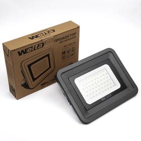 Прожектор светодиодный WOLTA WFL-50W/06, 50 Вт, 5500K, SMD, IP 65, цвет серый, слим Ош
