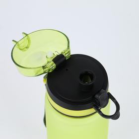 Бутылка для воды 600 мл, крышка закручивается, на кнопке, на браслете, микс, 6х22.5 см