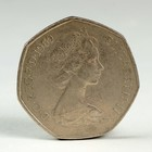 "Монета ""50 пенсов 1969 Великобритания"""