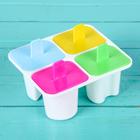 """Форма для мороженого """"Лолли"""", 4 ячейки, цвета МИКС"""