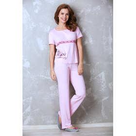 Пижама женская (футболка, брюки) 987-08 цвет розовый, р-р 42