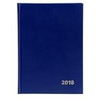 Ежедневник датированный на 2018г, А5, 176 листов Attache, бумвинил, синий, внутренний блок 2 краски