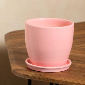 "Кашпо ""Осень"" 1,0 л глянец розовый лак"