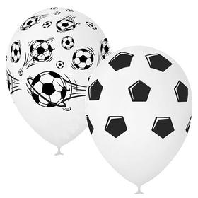 """Шар латексный 12"""" """"Футбол"""", пастель, 5-сторонний, набор 25 шт., цвет белый"""