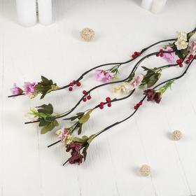 """Декор ветка """"Бутоны цветов с ягодами"""" 150 см, (цена за штуку) микс"""