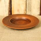 Тарелка для пасты, красная глина