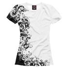 Футболка женская White patterns, размер XL HIP-718183