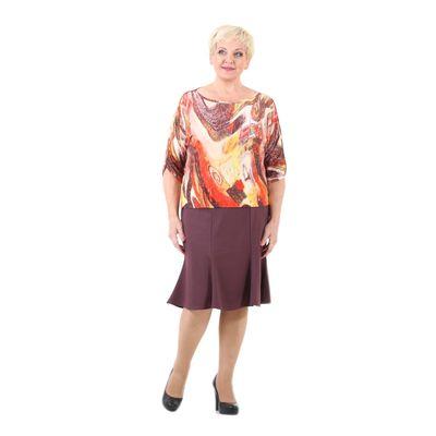 Юбка женская, размер 58, цвет кофейный 111S465