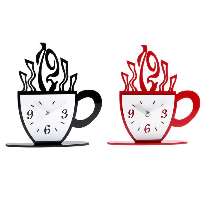 """Часы настольные """"Горячий чай"""", цвета МИКС"""