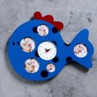 """Часы настенные детские """"Кит"""", 5 фоторамок"""