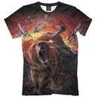 "Футболка мужская ""Медведь и танк"", размер XXL 23F-712406"