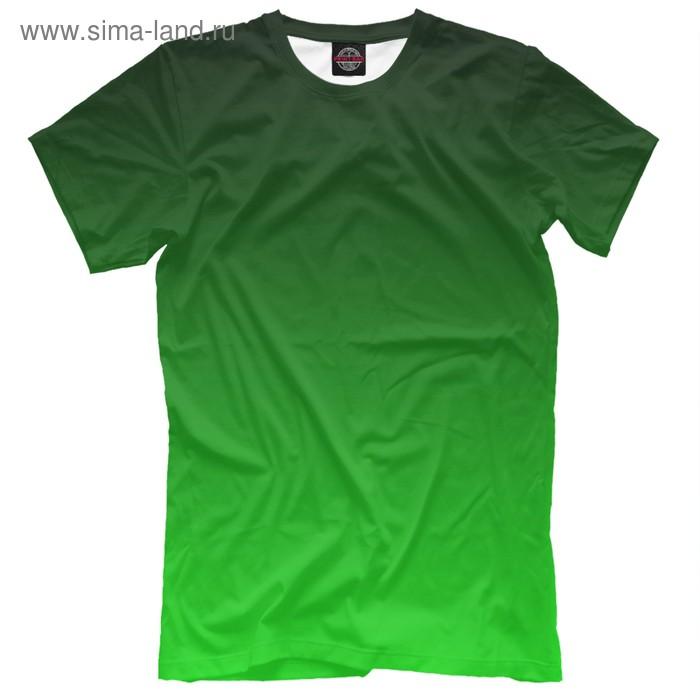 """Футболка мужская """"Градиент Зеленый в Черный"""", размер L CLR-327769"""
