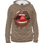 """Худи женское """"Шоколадные губы"""", размер XS POP-851917"""