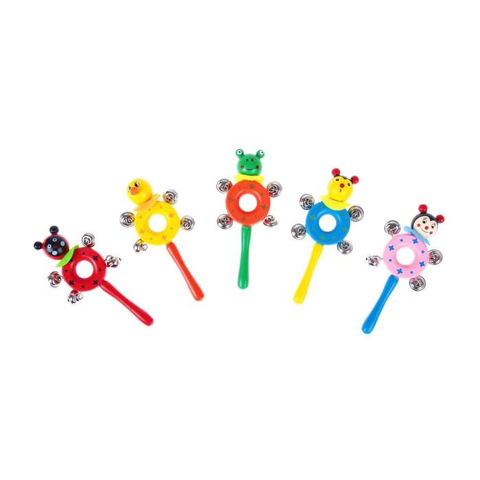 Музыкальная игрушка-бублик со зверями, МИКС