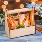 Кашпо подарочное со свечами и топперами №3