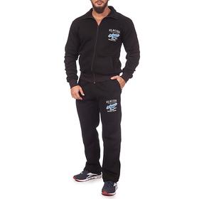 Костюм спортивный мужской (толстовка, брюки) 1903 цвет чёрный, р-р 44-46 (M)