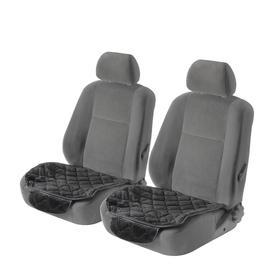 Накидка на сиденье, универсальная, чёрный, набор 3 шт.