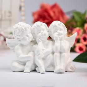 "Статуэтка ""Ангелы троица"" белый 12*5*9 см"