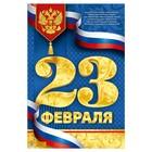 """Плакат """"23 февраля"""", золото, 40х60 см"""