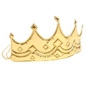 "Корона ""Принцесса"" на резинке, цвет золото"