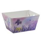 Складная коробка–трапеция «Лавандовая мечта», 19,5 х 15 х 1 х 10,5 см.