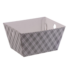 Складная коробка–трапеция «Клетка», 19,5 х 15 х 1 х 10,5 см.