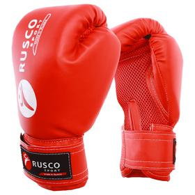 Перчатки боксерские RUSCO SPORT кож.зам.  8 Oz цвет красный