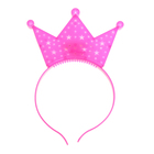 """Карнавальный ободок """"Корона"""" световой, цвет розовый"""