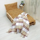 Подушка-матрас со съемным чехлом 186х66 см, жаккард леопард, бежевый, синтетич. волокно