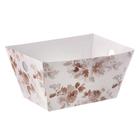 Складная коробка–трапеция «Цветочная нежность», 19,5 х 15 х 1 х 10,5 см.
