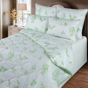 Одеяло обл. 140*205, ОБ/015эк, бамбуковое волокно, ткань глосс-сатин,п/э Ош