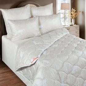 Одеяло обл. 140*205, ОМШ/015эк, шерсть мериноса, ткань глосс-сатин,п/э Ош