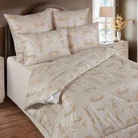 Одеяло обл. 140*205, ОВШ/015эк, шерсть верблюда, ткань глосс-сатин,п/э Ош