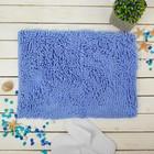 """Коврик для ванной """"Букли"""" 40х60 см, синий"""