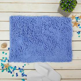 """Коврик для ванной """"Букли"""", цвет синий"""