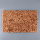 """Коврик для ванной """"Букли полоски"""" 80х50 см , коричневый"""